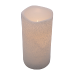 White Frosty Timer Candle Pillar - 3 x 6 in