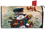 Winter Friends Mailbox Cover