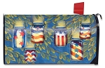 Patriotic Luminaries Mailbox Cover