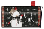Celebrate Winter Snowman Mailbox Cover