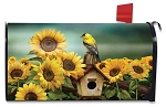 Goldfinch and Sunflowers Mailbox Cover