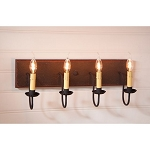 Medium Americana Wood Vanity Light in Espresso with Salem Brick - 4 Light
