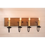 Medium Americana Wood Vanity Light in Pearwood - 4 Light