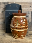 Redware Canister 9.5