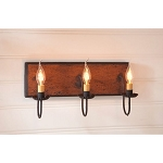 Small Hartford Wood Vanity Light in Pumpkin - 3 Light