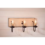 Small Sturbridge Wood Vanity Light in White - 3 Light