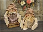 Ross and Rachel Scarecrow Sold Individually