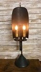 Handmade Primitive Tin Table Lamp Light 26