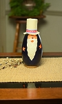 Uncle Sam - Small Tall Lit Handmade Gourd