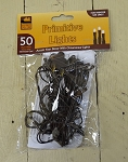 50 Bulb Primitive RICE Electric String Lights 10ft Brown Cord - Steady On