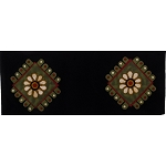 Primitive Petals Table Runner Black