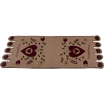 Heartfelt Blessings Nutmeg Table Runner