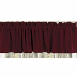 Farm House Solid Valance Barn Red