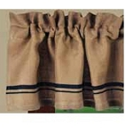Burlap Stripe Valance Black-Wheat