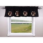 Homespun Star Black Valance