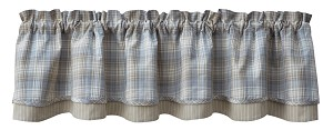 Prairie Wood Lined Layered Valance