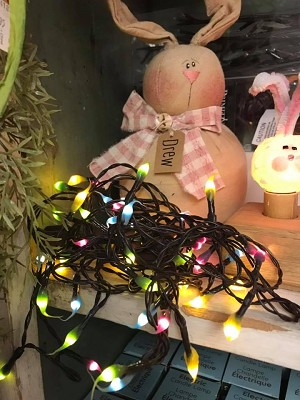 Spring Silicone Light Strand Teeny Bulbs Handmade Electric or Battery