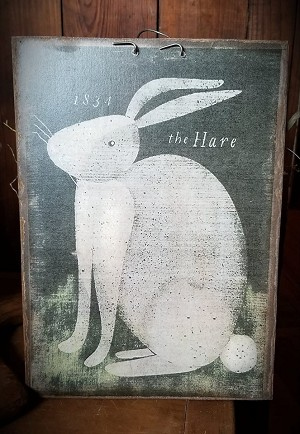 1834 The Hare Handmade Print on Wood 11