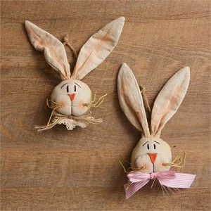 Cheeky Bunny Faces with Jute Hanger