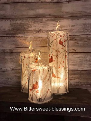Cardinal Battery Operated Acrylic Candles 6