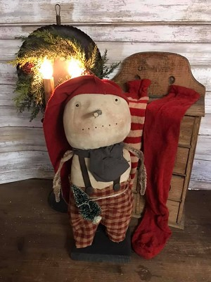 Handmade Snowman with Long Cap 16