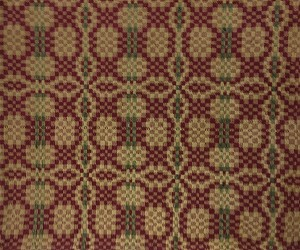 THE PATRIOT KNOT TABLECLOTH THROW CRANBERRY/GREEN/TAN 52