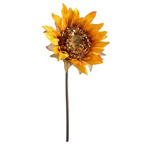 Sunflower Pick: Yellow/Orange, 10 inches