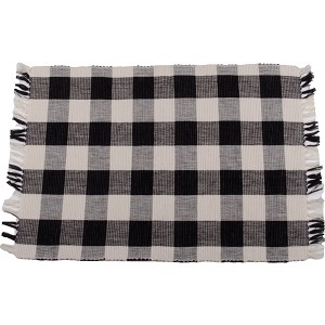 Buffalo Check Black-Buttermilk Placemat