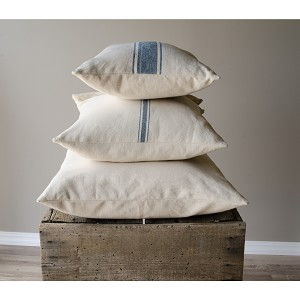 Grain Sack Solid Cream Pillow Sham