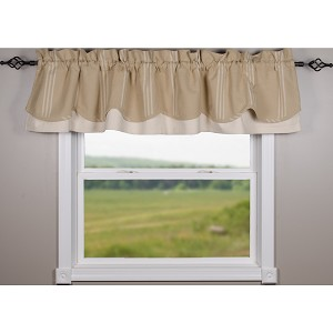 Grain Sack Multi Stripe Buff-Cream Fairfield Valance