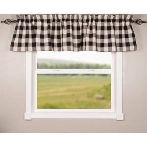 Buffalo Check Black-Buttermilk Valance