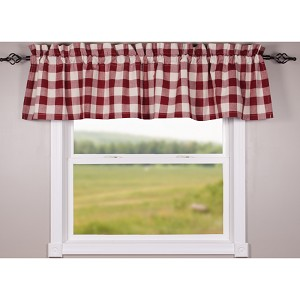 Buffalo Check Barn Red-Buttermilk Valance