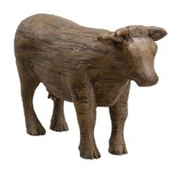 Carved Resin Cow