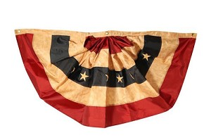 Tea Stained Patriotic Bunting