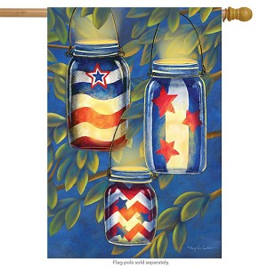 Patriotic Luminaries House Flag