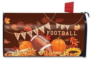 Family and Football Mailbox Cover
