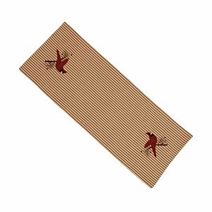 Ticking Cardinal Table Runner