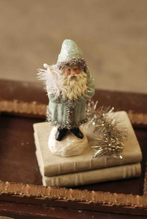 Belsnickle Santa in Sparkling Snow Blue | 9